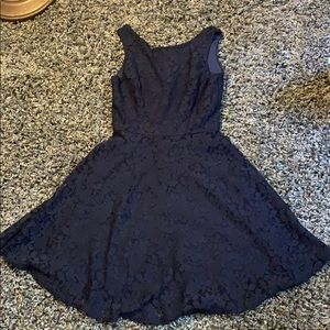 Navy blue dress by speechless